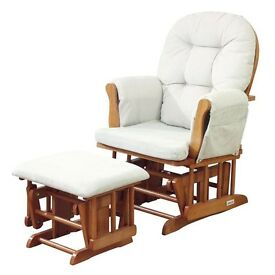 Glider Chair and Stool Natural