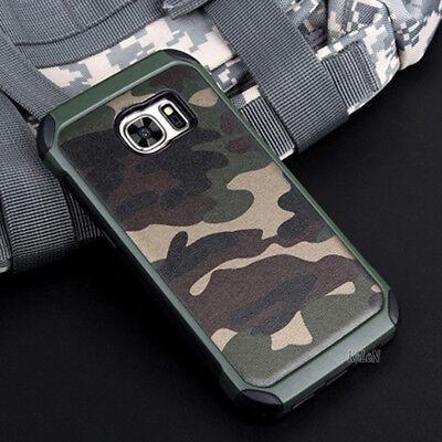 For Samsung Galaxy S7 S7 Edge Hard Armor Impact Case Cover Camo Army Military