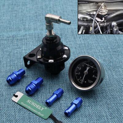 High Performance Car Pressure Gauge Adjustable Fuel Pressure Regulator Black