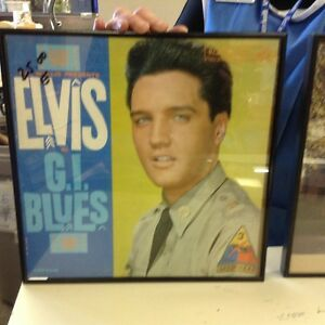 Framed Elvis Album Covers