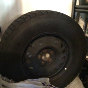 4 Firestone Winter Force Winter Tires on Rims W235/70R/16