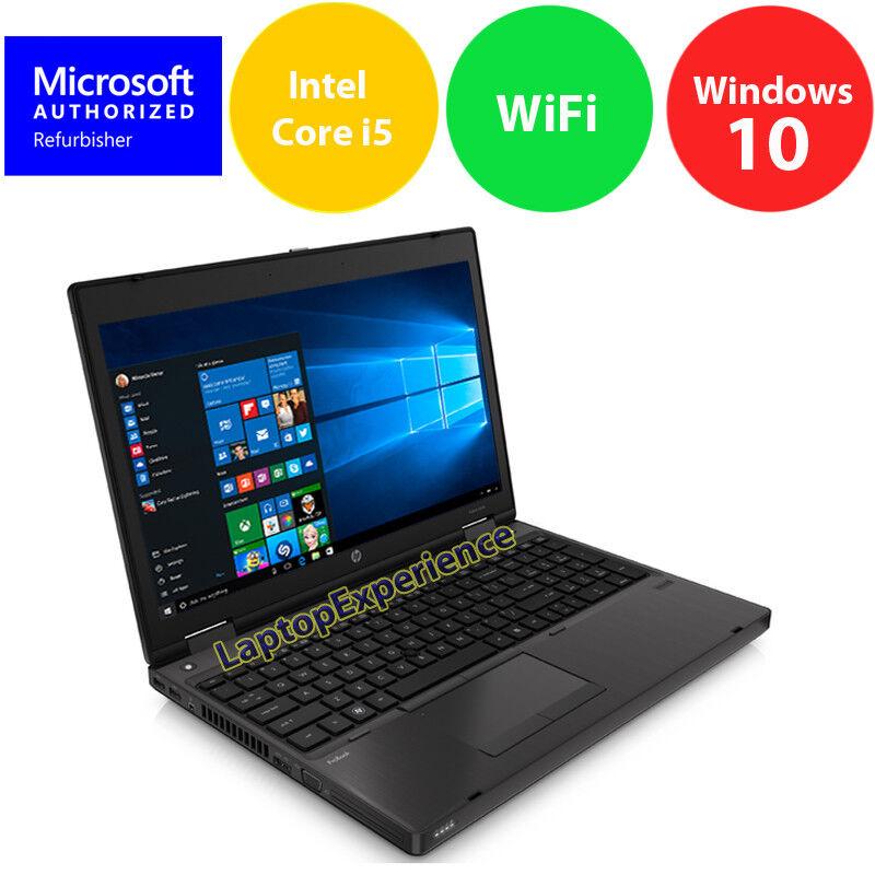 "Laptop Windows - HP ProBook 6570B LAPTOP COMPUTER CORE i5 2.6GHz 4GB 320GB 15.6"" Windows 10 KEY"