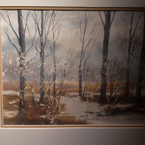 ( $75.00 OFF ) MARTIN ZIMMER AFTER THE ICE STORM PAINTING