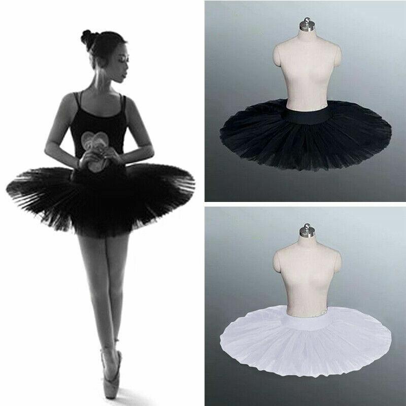 Adult Professional Ballet Tutu Skirt 6 Layers Hard Organdy Platter Dance Dress