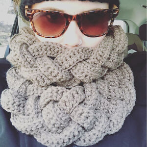 Double Braided Crochet Scarf