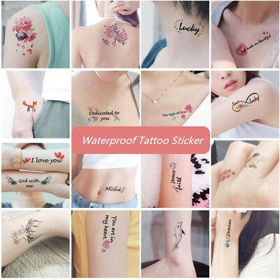 30pcs Waterproof Temporary Tatoos Sticker Animal for Body Face Art Women - Temporary Tatoos