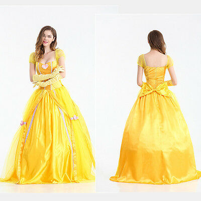 Belle Costume Adult Beauty and The Beast Princess Halloween Fancy - Belle Halloween Dress