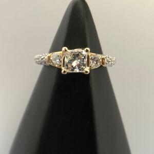 14K Gold Certified Canadian Diamond Princess Cut Diamond E