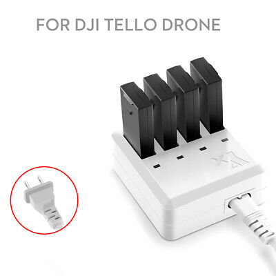 Tello Battery Multi Charger 4 in 1 Quick Charging Hub For DJI Tello Drone US
