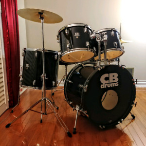 5pc Drum Set w/ Cymbals & Hardware
