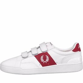 Fred Perry Mens Authentic Sturgess Velcro Trainers new in box sizes 7 & 9.5 uk only £45