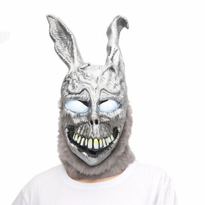 Frank The Bunny Adult Mask Donnie Darko Costume Face Movie Scary Full - Donnie Darko Frank The Bunny Costume