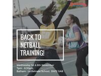 Back to Netball Training!