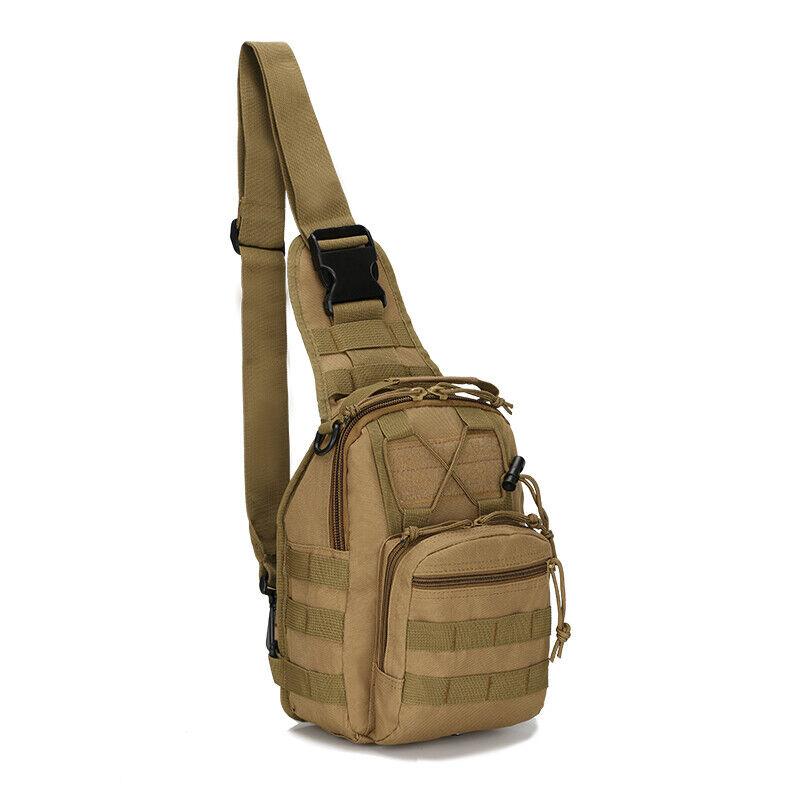 Men Backpack Molle Tactical Sling Chest Pack Shoulder Bag Outdoor Hiking Travel 6