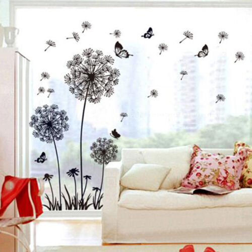 Art Mural Dandelion Flower Decals Wall Stickers Removable Vi