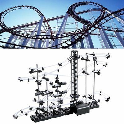 Level-1 Marble Run Roller Coaster Kid Space Rail Building Spacewarp Kit Toy -