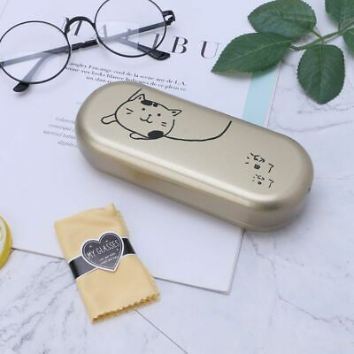 New Arrival Hard Case (New Arrival Glasses Box Metal Hard Case Protective glasses With Wipe)