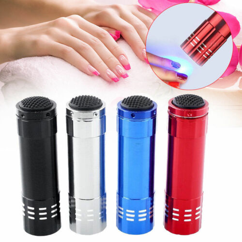 1PC 9LEDs UV Gel Lamp Light Nail Dryer Flashlight Torch For Nail Polish Manicure
