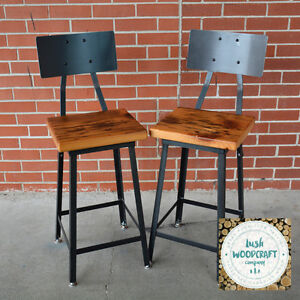 Farmhouse Industrial Counter & Bar Height Stools