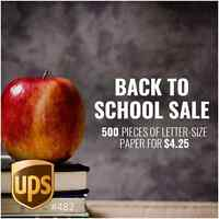 Back to School Sale on Paper