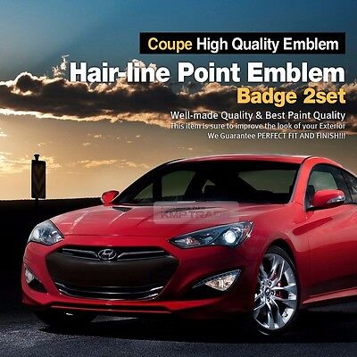 Hairline Emblem Point Badge 2pcs Side Front Trunk for HYUNDAI 2009-2016 Genesis
