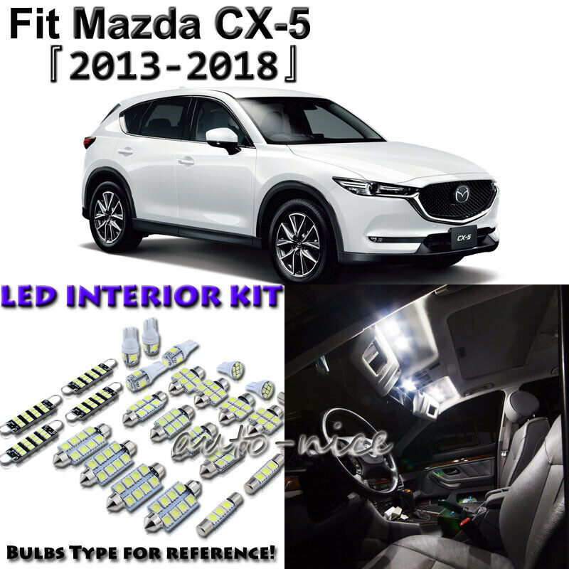Details About 10 X White Interior Led Light Package Kit For 2017 2016 2018 Mazda Cx 5