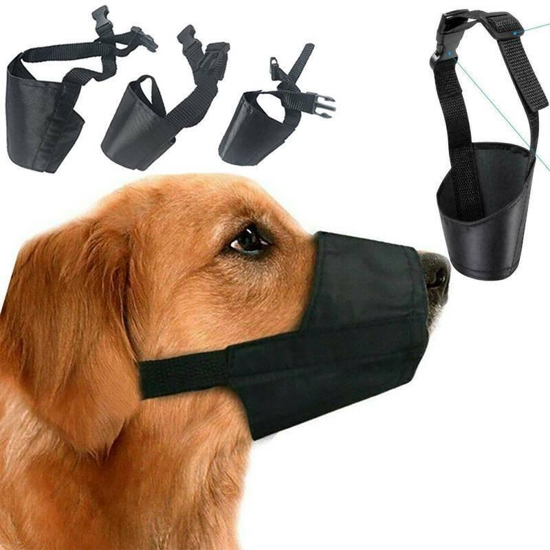 Hundemaulkorb Maulschlaufe Maulkorb Verstellbar Anti Bellen Hunde Beißkorb S-XL