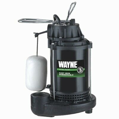 Wayne Cdu800 12 Hp Submersible Cast Iron Sump Pump