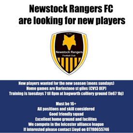 Sunday league football team looking for players