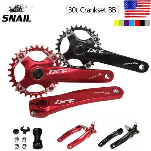 UK IXF 104BCD 170mm Aluminum CNC MTB Road Bike Chainring Crank Hollowtech II BB