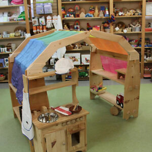 Wooden Play Stand, Play Kitchen and More!