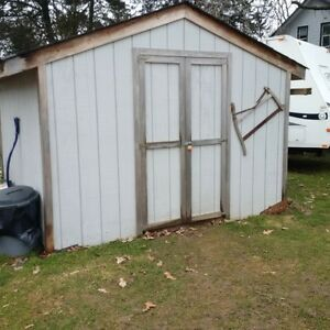 Wooden 10x10 Work Shed