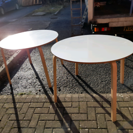 IKEA round ex office tables £30 each
