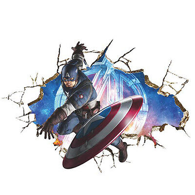 3D Marvel Avengers Wall Stickers Kids Room Decor Decal Super Hero Decals Posters (Avengers Decor)