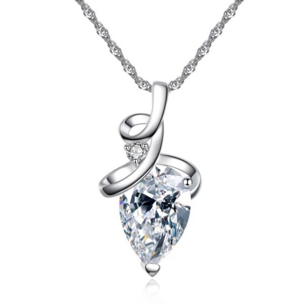 Water Drop Shaped Pendant Necklace For Women