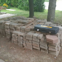 225 sq. ft. of pavers (2 sizes)