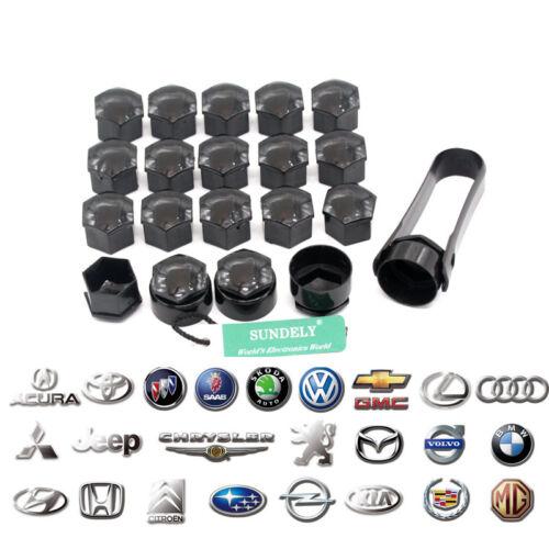 20x Alloy Wheel Nut Caps Bolt Covers Audi VW Vauxhall Bmw Mercedes Renault 17mm