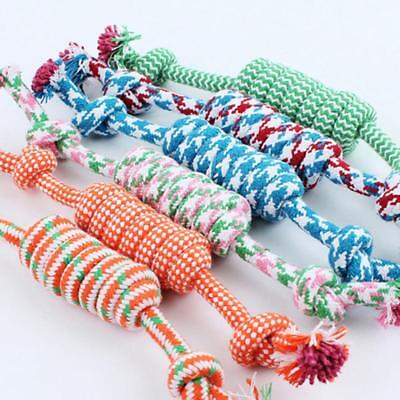Dogs Favorite Chew Knot Toy Braided Pet Bone Cotton Rope Durable Safe Q Durable Knot Dog Bone