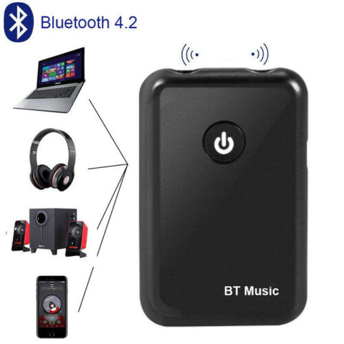 2in1 Bluetooth 4.2 Transmitter Receiver Audio 3.5mm Adapter For Smartphone PC TV