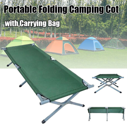 600D XL Outdoor Portable Military Folding Hiking Camping Cot