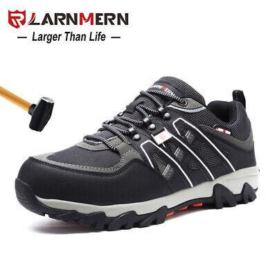 LARNMERN Men Steel Toe Safety Shoes Work Shoes Anti-smashing Hiking Boots