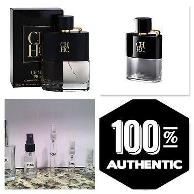 Carolina Herrera Ch Men Prive Authentic Samples Not Bottles  5Ml 10Ml 15Ml 30Ml