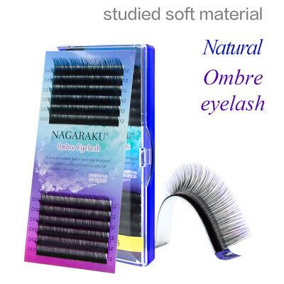 Ombre Color Purple Blue Individual Mink 0.07 C Silk False Eyelashes Extension](Purple Eyelashes)