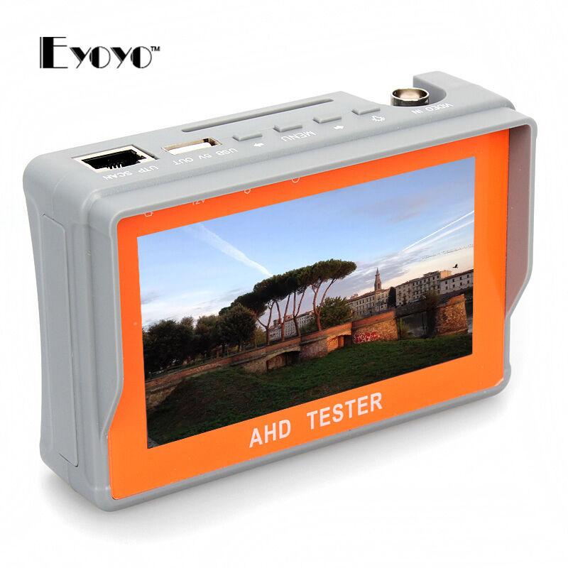 EYOYO 4.3 Inch CCTV Tester Camera Monitor HD 1080P AHD Test Tool 12V-Output