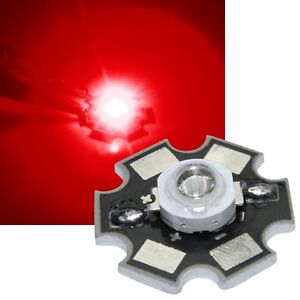 1x HighPower Led 3 Watt auf Star Platine 700mA 3 W Hochleistungs Chip High-Power