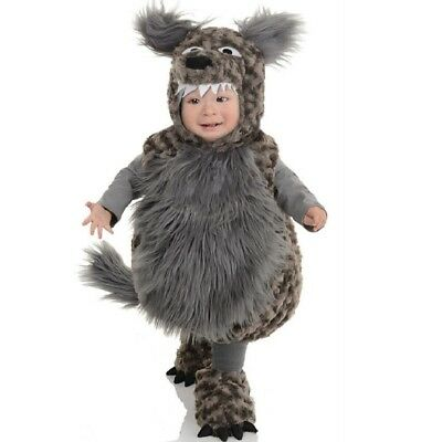 Underwraps Wolf Belly Baby Costume - 2 Sizes](Baby Wolf Costumes)