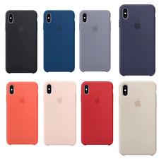 Pour iPhone Xs Max XR Original Silicone Housse de téléphone étui Coque arrière