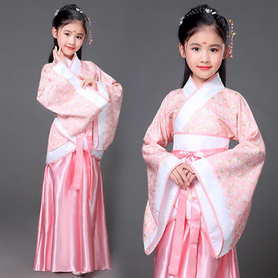 Children Hanfu tang dynasty dance costume dress fairy traditional chinese kid