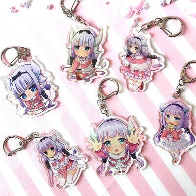 Miss Kobayashi's Dragon Maid Kanna Keychain Key Ring Anime Pendants Collectibles