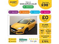 FORD FOCUS ORANGE 2.0 T E/B 250 ST-3 HATCHBACK PETROL FROM £98 PER WEEK!